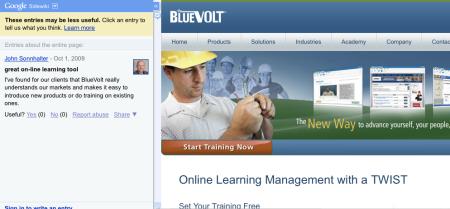 BlueVolt Sidewiki