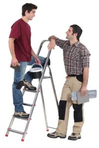 2 men talking