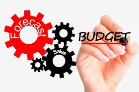 Adjust sales budget concept