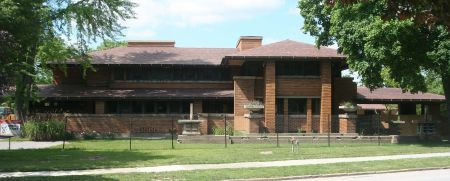Frank Lloyd Wright's Darwin D. Martin House, in Buffalo, NY. Courtesy of Dave Pape.